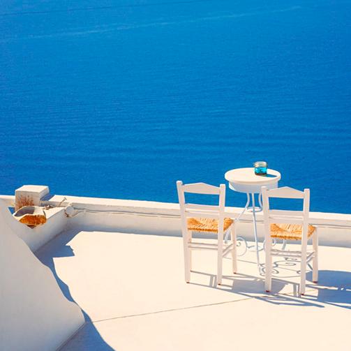 Bleu grec à l'horizon